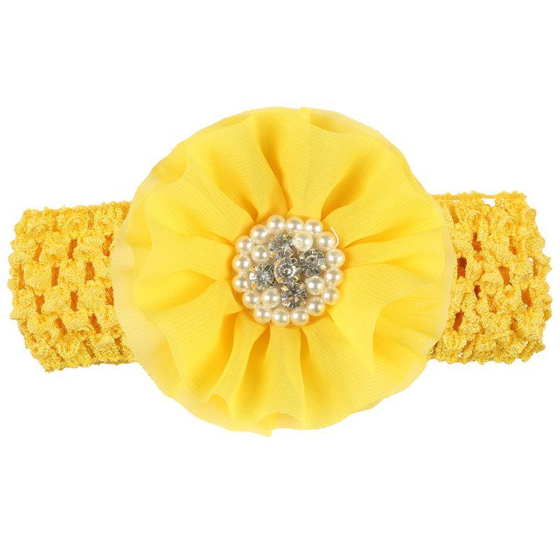 Cloth Fashion Flowers Hair accessories  (yellow)  Fashion Jewelry NHWO0876-yellow