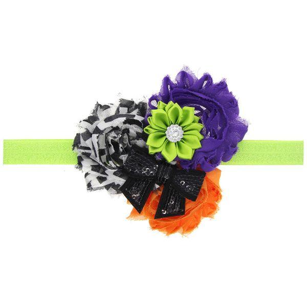 Cloth Simple Flowers Hair accessories  (green)  Fashion Jewelry NHWO0909-green