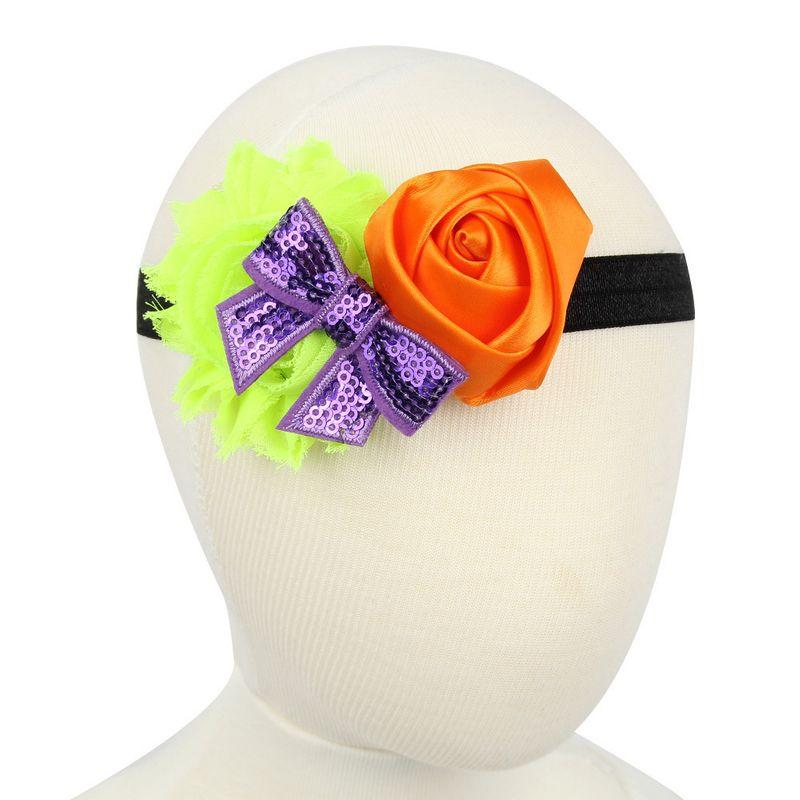 Tela Moda Flores Accesorios para el cabello Naranja Joyera de moda NHWO0913Naranja