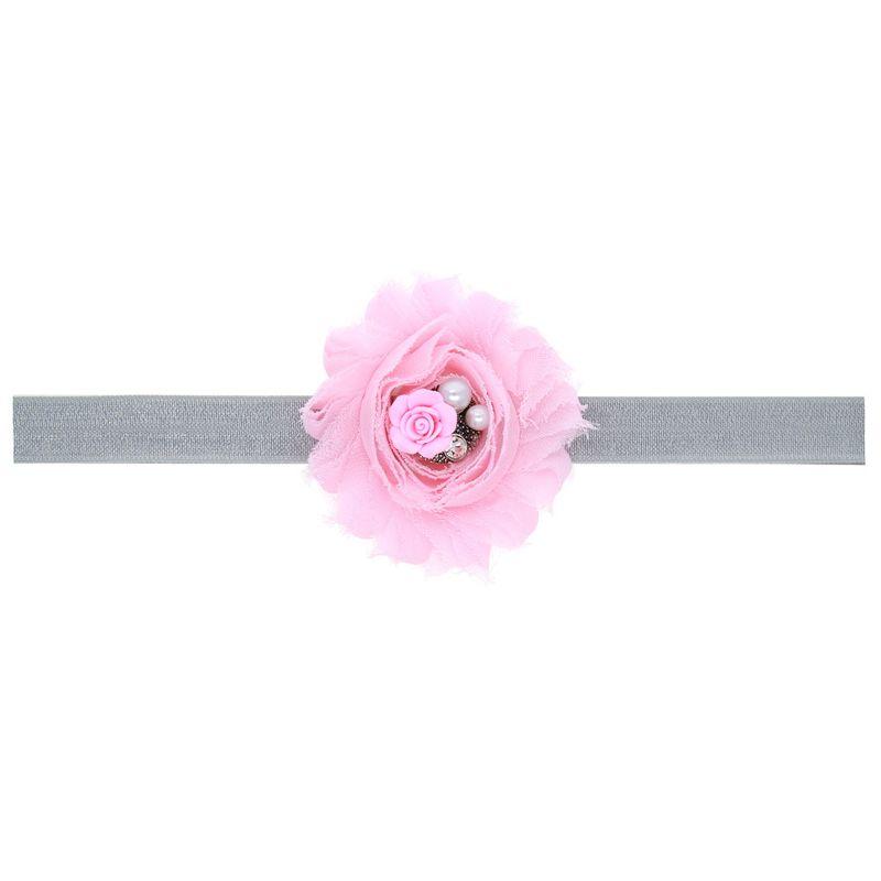 Cloth Fashion Flowers Hair accessories  Pink  Fashion Jewelry NHWO0944Pink