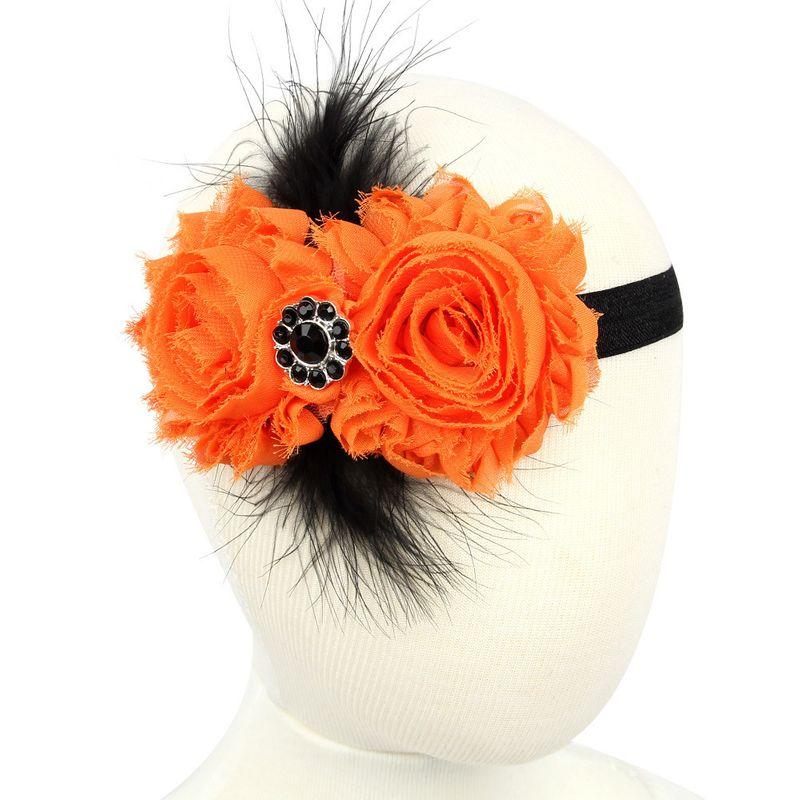 Cloth Simple Flowers Hair accessories  Orange  Fashion Jewelry NHWO0947Orange