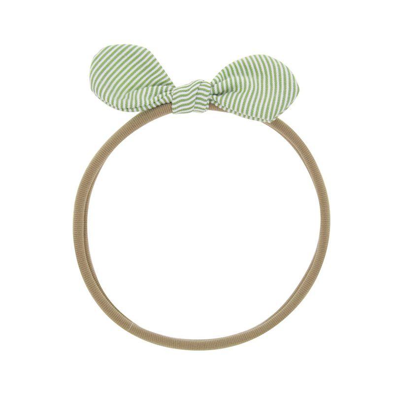 Cloth Korea Flowers Hair accessories  Green stripes  Fashion Jewelry NHWO0969Greenstripes