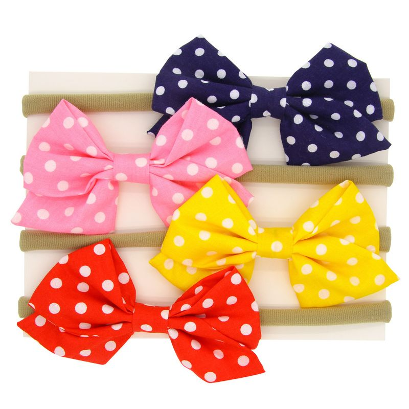 Cloth Fashion Bows Hair accessories  4color mixing  Fashion Jewelry NHWO09754colormixing
