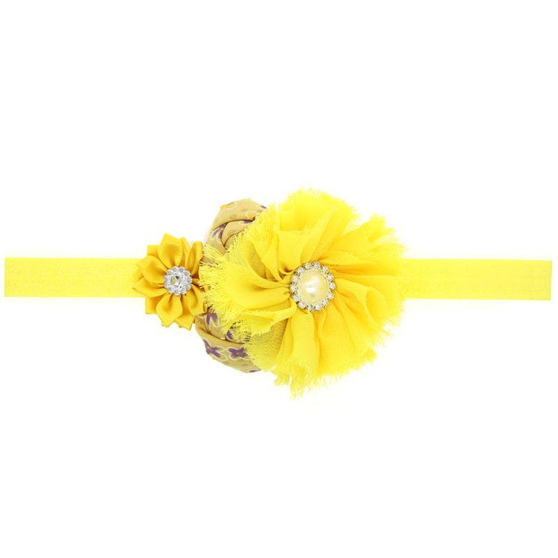 Cloth Fashion Flowers Hair accessories  yellow  Fashion Jewelry NHWO1000yellow