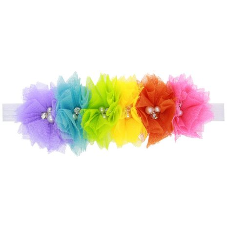 Alloy Fashion Flowers Hair accessories  (Rainbow color)  Fashion Jewelry NHWO1034-Rainbow-color's discount tags
