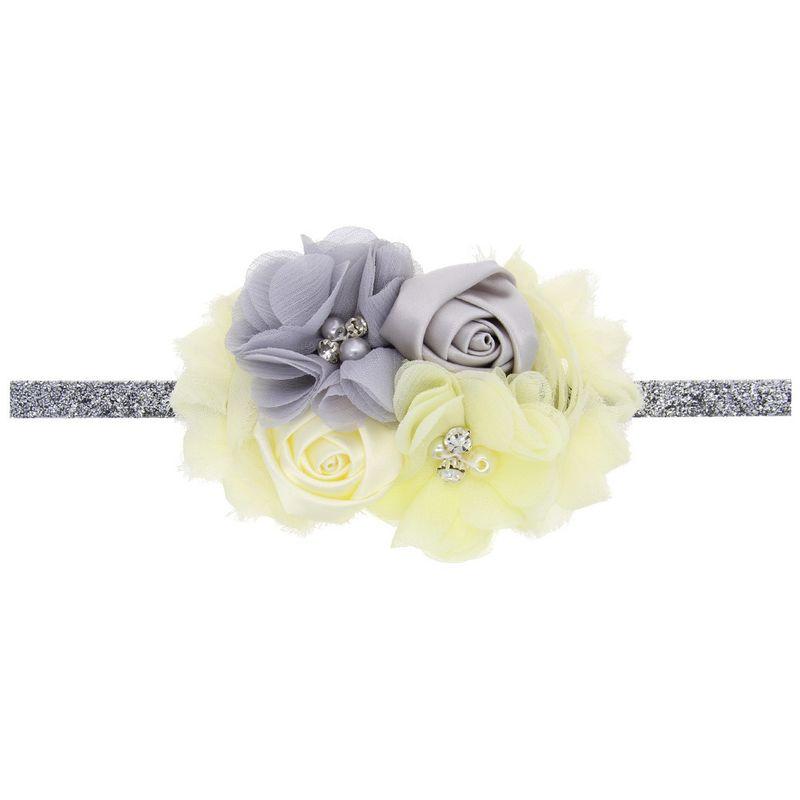 Cloth Fashion Flowers Hair accessories  Milk white  Fashion Jewelry NHWO1040Milkwhite
