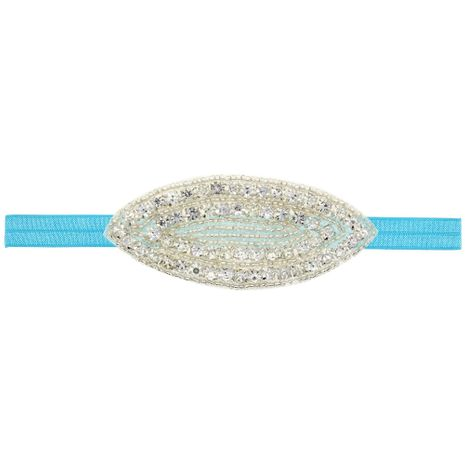 Imitated crystal&CZ Fashion Flowers Hair accessories  (blue)  Fashion Jewelry NHWO1046-blue's discount tags