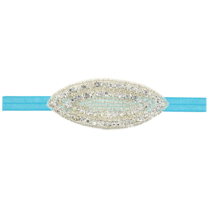 Imitated crystalCZ Fashion Flowers Hair accessories  blue  Fashion Jewelry NHWO1046blue