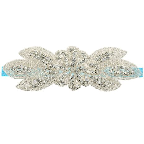 Imitated crystal&CZ Fashion Flowers Hair accessories  (blue)  Fashion Jewelry NHWO1051-blue's discount tags
