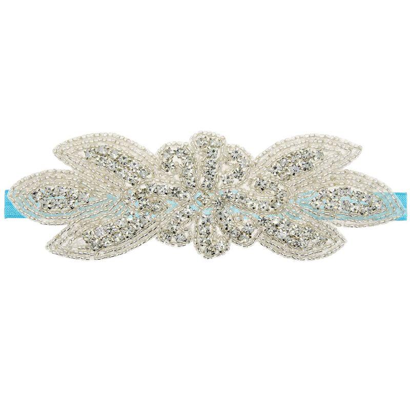 Imitated crystalCZ Fashion Flowers Hair accessories  blue  Fashion Jewelry NHWO1051blue