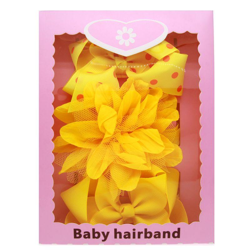 Alloy Fashion Bows Hair accessories  yellow  Fashion Jewelry NHWO1053yellow