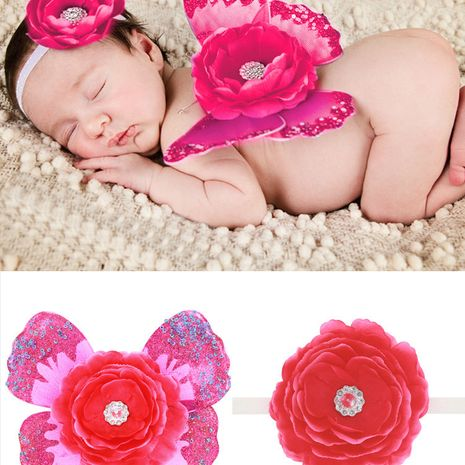 Cloth Fashion  Hair accessories  (Rose red-rose red)  Fashion Jewelry NHWO1065-Rose-red-rose-red's discount tags