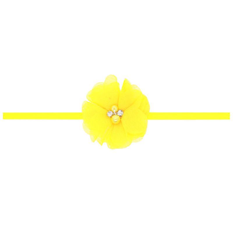 Cloth Fashion Flowers Hair accessories  yellow  Fashion Jewelry NHWO1082yellow
