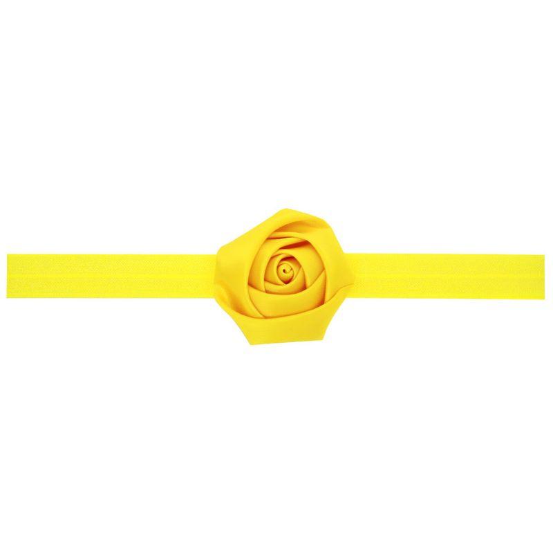 Cloth Fashion Flowers Hair accessories  yellow  Fashion Jewelry NHWO1107yellow