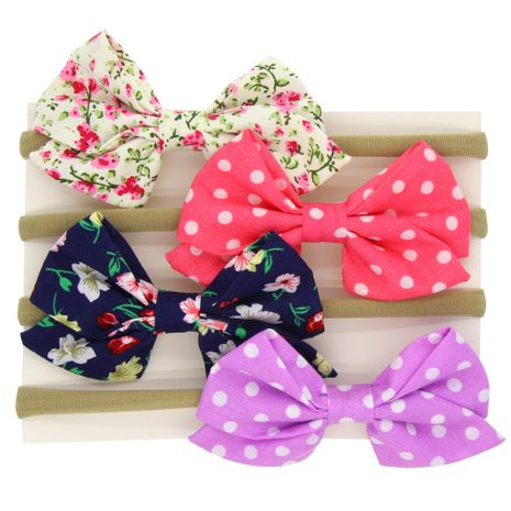 Cloth Fashion Bows Hair accessories  (4-color mixing)  Fashion Jewelry NHWO1117-4-color-mixing's discount tags