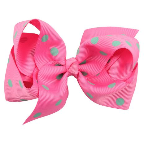Cloth Fashion Bows Hair accessories  (Rose red dot green)  Fashion Jewelry NHWO1120-Rose-red-dot-green's discount tags