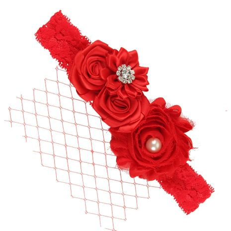 Cloth Fashion Flowers Hair accessories  (red)  Fashion Jewelry NHWO1128-red's discount tags