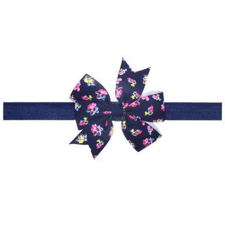 Cloth Fashion Flowers Hair accessories  (Navy)  Fashion Jewelry NHWO1129-Navy's discount tags