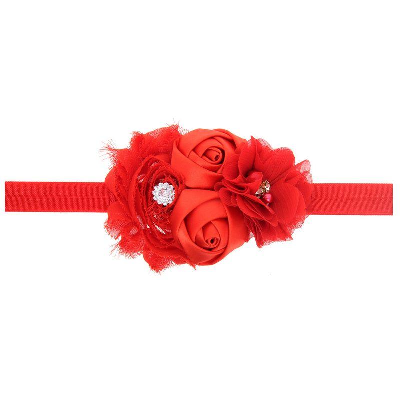 Tela Moda Flores Accesorios para el cabello rojo Joyera de moda NHWO1130rojo