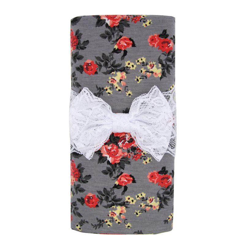 Tissu Mode Fleurs Accessoires cheveux Noeud gris Bijoux fantaisie NHWO1136Noeud gris