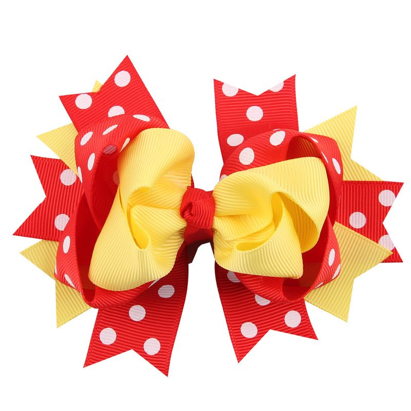 Cloth Fashion Flowers Hair accessories  (Yellow red)  Fashion Jewelry NHWO1139-Yellow-red