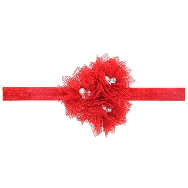 Tissu Mode Fleurs Accessoires pour cheveux rouge Bijoux fantaisie NHWO1140rouge