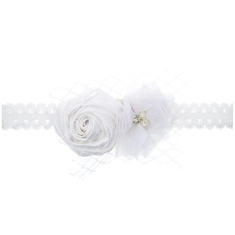 Cloth Fashion Flowers Hair accessories  white  Fashion Jewelry NHWO1149white