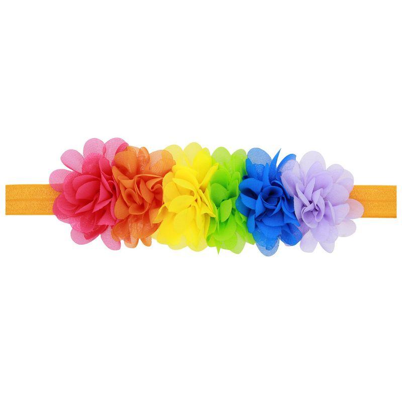 Cloth Fashion Geometric Hair accessories  Mini chiffon rainbow  Fashion Jewelry NHWO1159Minichiffonrainbow
