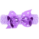 Cloth Fashion Bows Hair accessories  White black dot  Fashion Jewelry NHWO0820Whiteblackdot