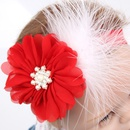 Cloth Fashion Flowers Hair accessories  red  Fashion Jewelry NHWO0935red