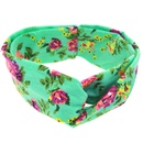 Cloth Fashion Flowers Hair accessories  green  Fashion Jewelry NHWO1115green