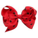 Cloth Fashion Bows Hair accessories  Rose red dot green  Fashion Jewelry NHWO1120Rosereddotgreen