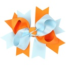 Cloth Fashion Flowers Hair accessories  Orange blue  Fashion Jewelry NHWO1135Orangeblue