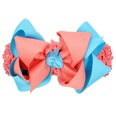 NHWO1007-Watermelon-red-and-blue-wide-hair-band
