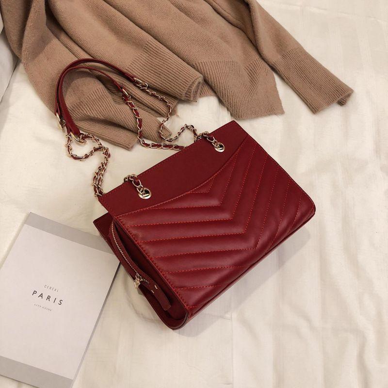 PU Korea  Shoulder bag  (red)  Fashion Bags NHTC2946-red