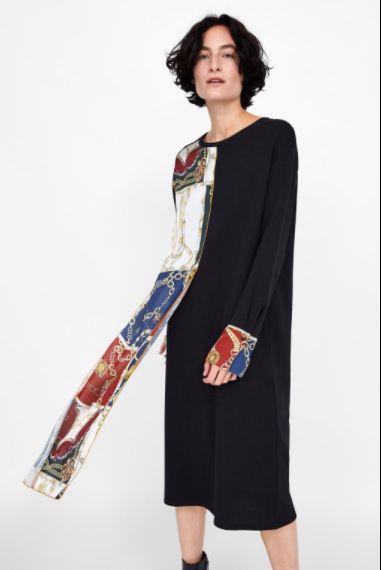 Cotton Fashion  dress  (black-L)  Women Clothing NHAM7338-black-L