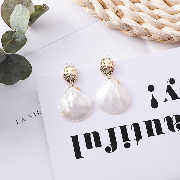 Alloy Korea Geometric earring  A shell  Fashion Jewelry NHMS2182Ashell