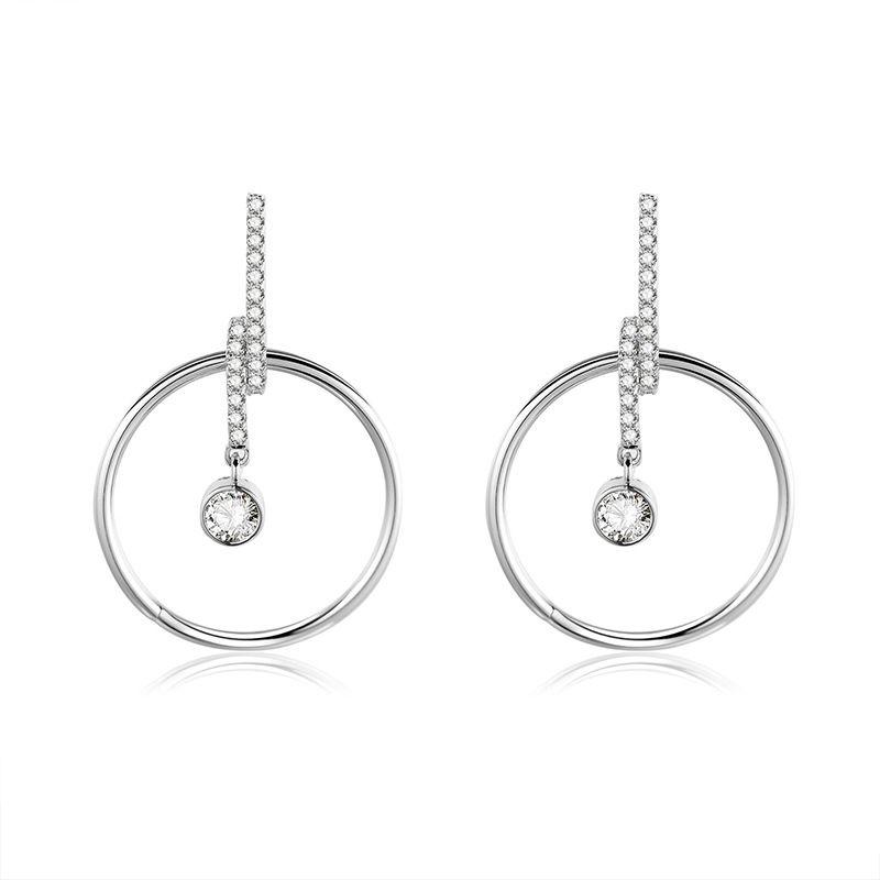 Copper Fashion Geometric earring  (61189586)  Fine Jewelry NHXS2339-61189586
