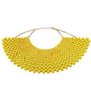 Acrylic Fashion Geometric necklace  (yellow)  Fashion Jewelry NHJQ11275-yellow's discount tags