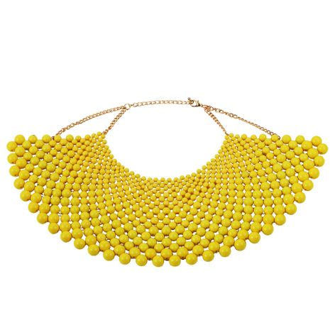 Acrylic Fashion Geometric necklace  (yellow)  Fashion Jewelry NHJQ11275-yellow's discount tags
