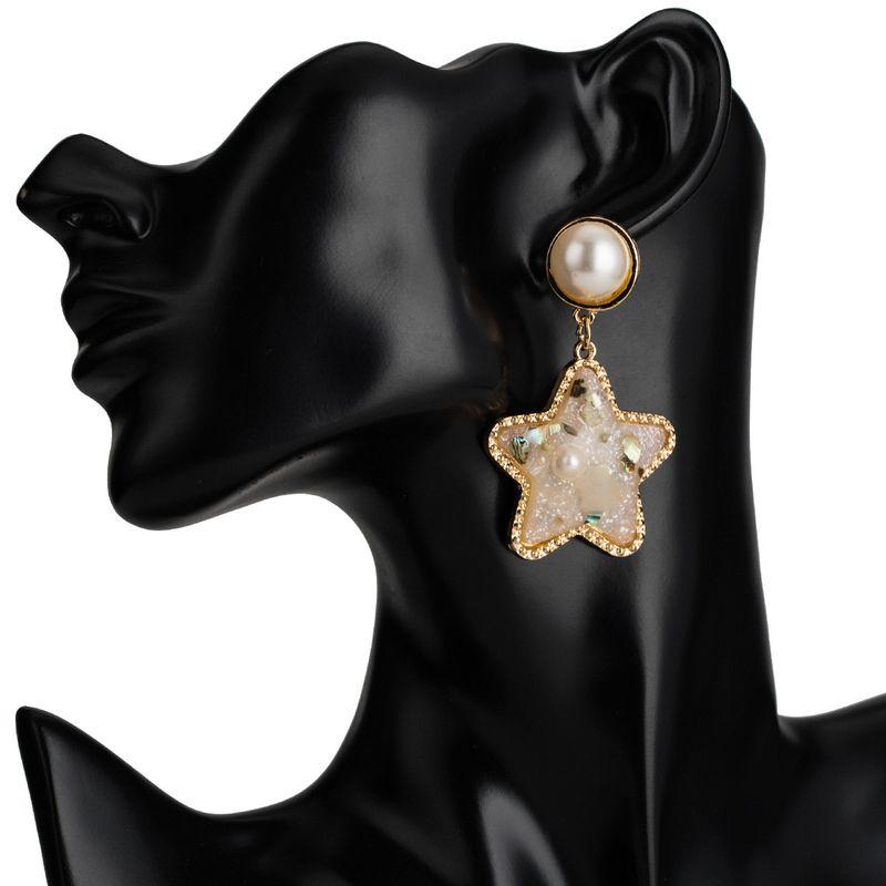 Acrylic Fashion Geometric earring  (white)  Fashion Jewelry NHJE2635-white