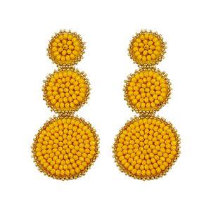 Alloy Fashion Geometric earring  (yellow)  Fashion Jewelry NHJQ11290-yellow's discount tags