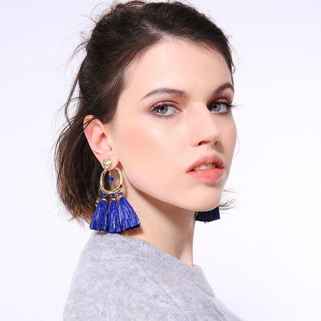 Boucle d'oreille pompon en alliage de mode (couleur photo) Bijoux fantaisie NHQD6173-Photo-couleur's discount tags