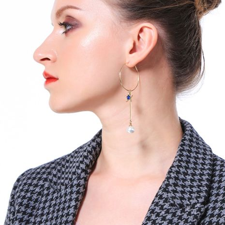 Copper Korea Geometric earring  (Photo Color)  Fine Jewelry NHQD6186-Photo-Color's discount tags