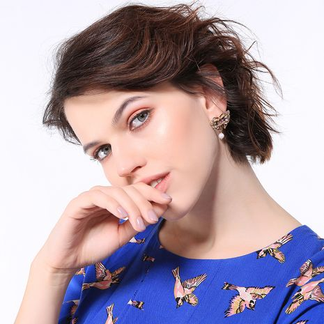Alloy Fashion Animal earring  (Photo Color)  Fashion Jewelry NHQD6196-Photo-Color's discount tags