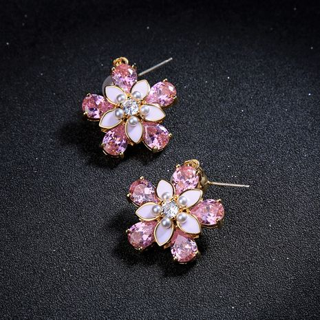 Alloy Korea Flowers earring  (Photo Color)  Fashion Jewelry NHQD6204-Photo-Color's discount tags
