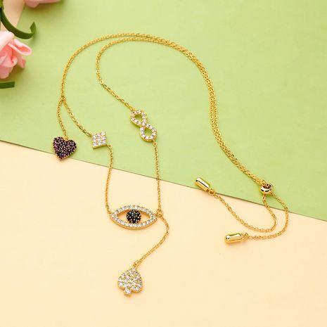 Copper Korea Animal necklace  (Photo Color)  Fine Jewelry NHQD6207-Photo-Color's discount tags