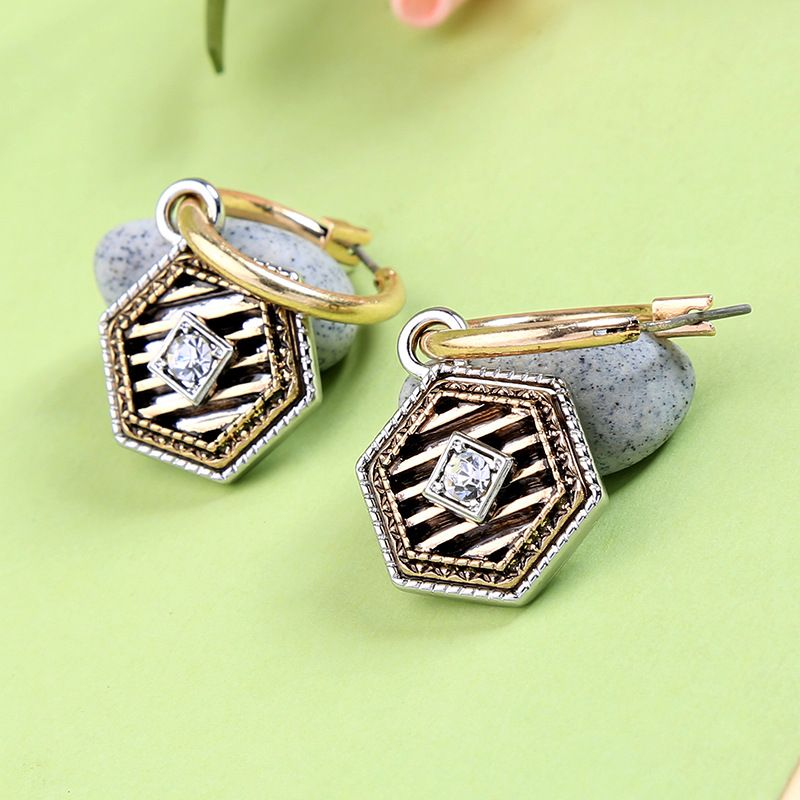 Alloy Fashion Geometric earring  (Photo Color)  Fashion Jewelry NHQD6209-Photo-Color