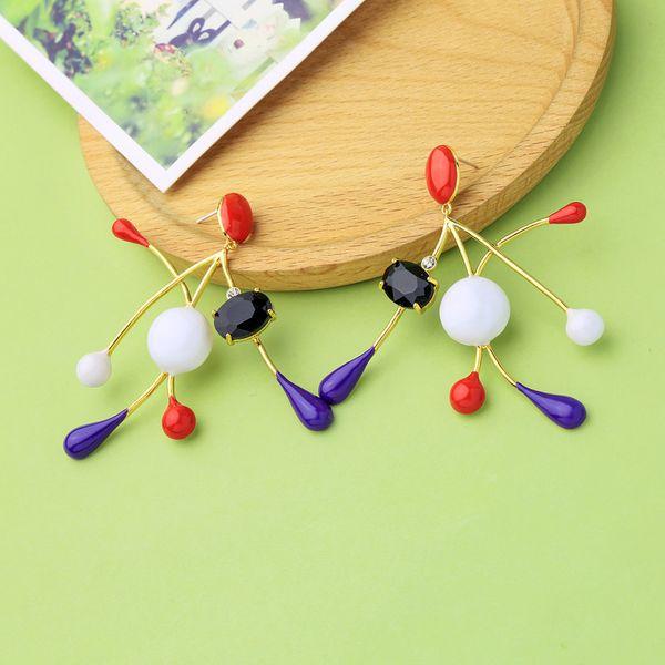 Copper Korea Geometric earring  (Photo Color)  Fine Jewelry NHQD6212-Photo-Color