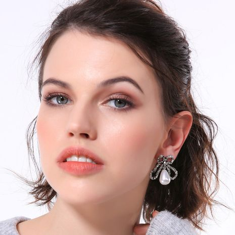 Alloy Fashion Bows earring  (Photo Color)  Fashion Jewelry NHQD6213-Photo-Color's discount tags